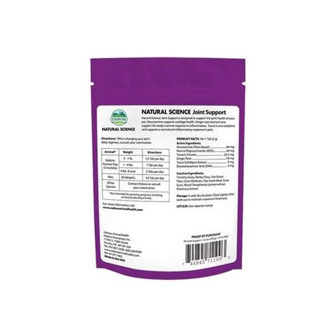 Oxbow Natural Science Joint Support 120g - 2PETS Állatijó