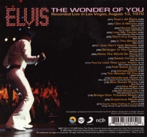 The Wonder Of You - FTD CD