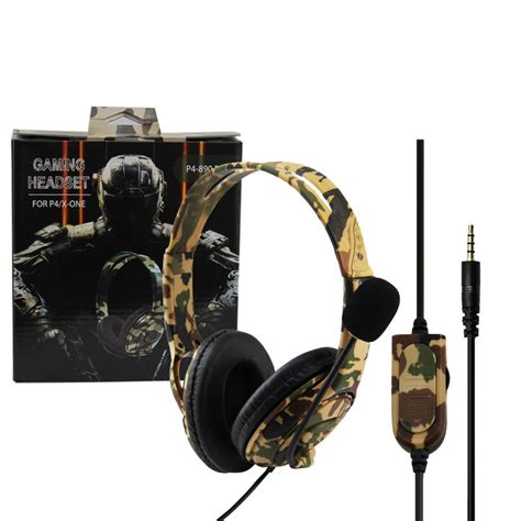 PS4/XBOX-ONE Gaming wired headset---Camouflage Yellow