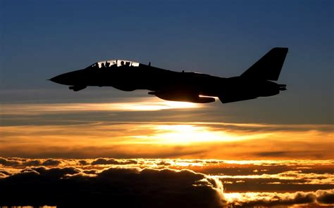 f 14 tomcat sunset Wallpapers HD / Desktop and Mobile