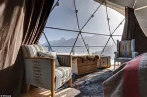 Winter glamping! 'Igloo pods' at remote Swiss eco-luxury