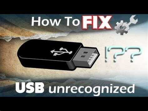 How to Fix USB Device Not Recognized - USB Not Working