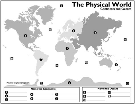 World geography maps to label | Geography | Pinterest