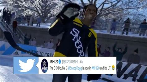 Snoop Dogg is now available in NHL 20 as a player and