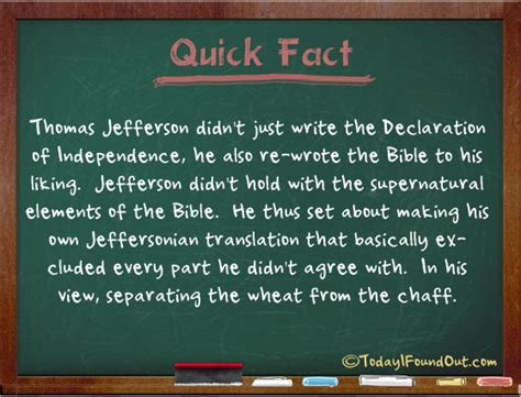 Thomas Jefferson Created a Version of the Bible that Cut