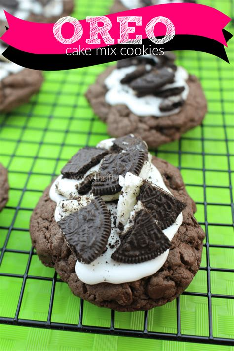 Double Chocolate Chip Oreo Cake Mix Cookies