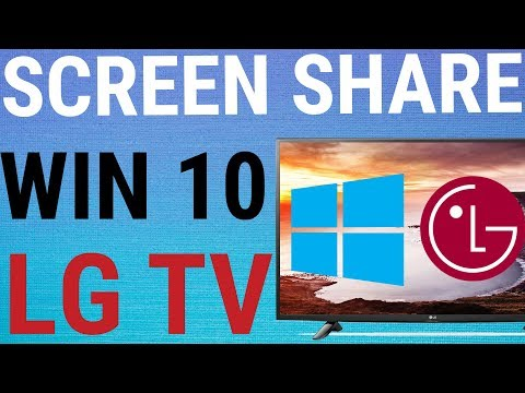 Unable to use Screenshare or WiDi with Laptop? - LG webOS