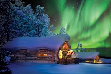 Witness the Aurora Borealis in a Glass Igloo