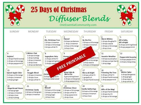 25 Days of Christmas Diffuser Blends | Essential oil