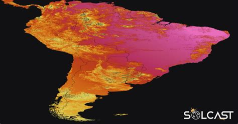 Solar irradiance data for South America