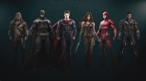 Justice League Concept Art Lines Up the Whole Gang