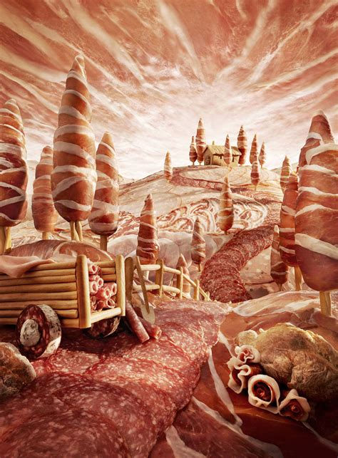 Foodscapes: Stunning Landscapes Made of Food by Carl